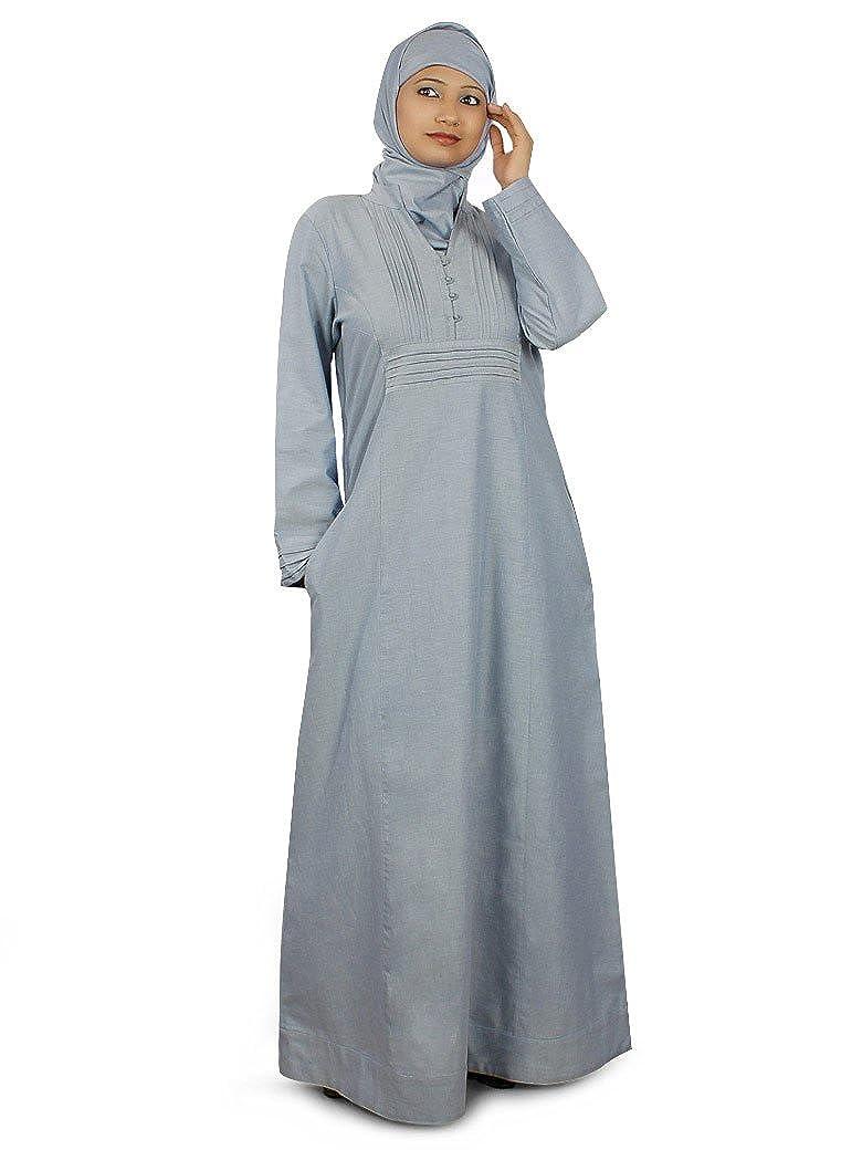 Mybatua Women's Islamic Modern Zarqa Abaya Blue
