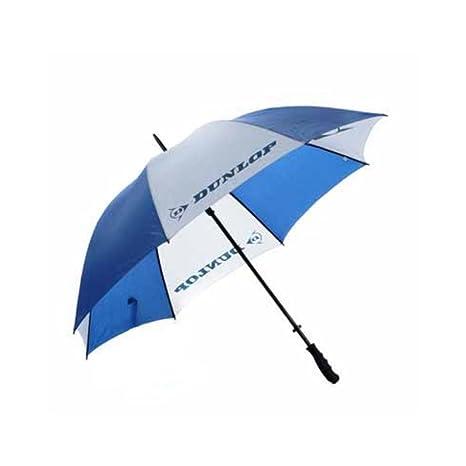 Deluxe - Paraguas de golf (157,5 cm) azul/blanco