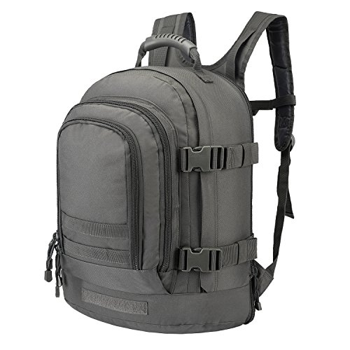 - Tactical Rucksacks Backpack Expandable Large 3 Day Assault Pack Army Molle Water Resistant Comfortable Daypack with Hydration Compartments for Military Hunting Recreation Trekking School Bug Out Bag