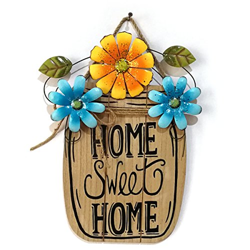 Amazon.com: VORCOOL Wood Watercolor Flower Garden Metal Room ...