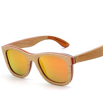 Z&YQLas Gafas de Sol de Madera Moda Personalidad Marea ...