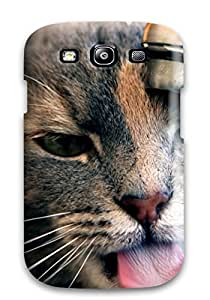Case Cover Gray Cat Drinking Water From The Sink/ Fashionable Case For Galaxy S3