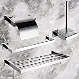 Contemporary Polished Wall Mounted Bathroom Accessory Sets