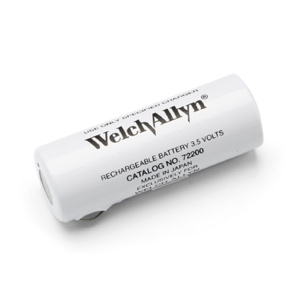 Welch Allyn 72200 Nickel-Cadmium Rechargeable Battery for 71670/60835/71000 Power Handles, Black Lettering, 3.5V