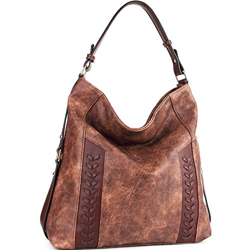 WISHESGEM Women Fashion Bags Coffee Tote Leather Handle Hobo PU Shoulder Handbags Top Bags Purse w1rdw4Pq