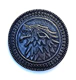 Game of Thrones, Stark, Winterfell, Wolf Shield Pin