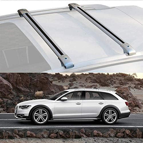 Mmhot Aluminiumlegierung Dachträger-Querstab Cargo Bar Träger Abschließbare Anti-Diebstahl-Aero Dynamische Autodachträger Dach Kompatibel mit A6 Allroad 2012-19 (Size : for Audi A6 allroad 2016)
