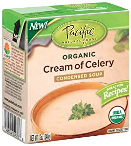 Pacific Natural Foods Organic Cream Of Celery Condensed Soup, 12-Ounce Boxes (Pack of 12)