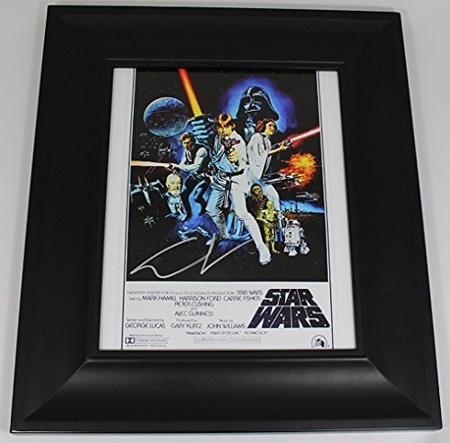 Star Wars George Lucas Hand Signed Autographed 8x10 Glossy Photo Gallery Framed Loa