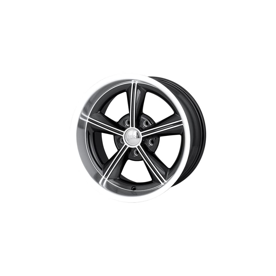 Ion Alloy 625 Black Wheel with Machined Face and Lip (15x8/5x120.65mm)