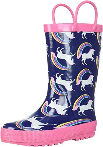 Carter's Girls' Nessa Rain Boot, Navy, 9 M US Toddler