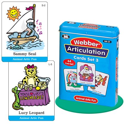 Super Duper Publications Set of 7 Webber Articulation Card Decks with Animal Artic Pairs (Combo Set 3) Educational Learning Resource for Children by Super Duper Publications (Image #7)