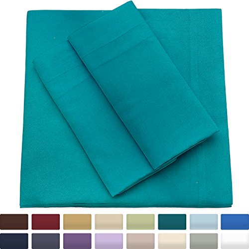 Premium Bamboo Bed Sheets - Queen Size, Turquoise Sheet Set