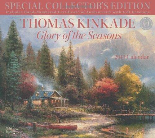 thomas kinkade glory of the seasons 2013 calendar