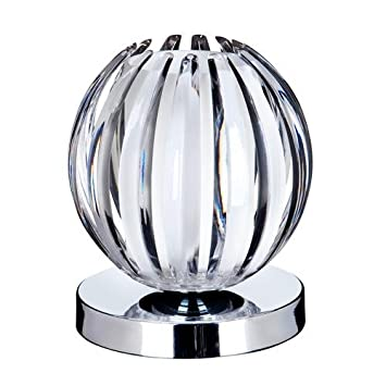 Searchlight 1811cl chrome touch table lamp with clear amazon searchlight 1811cl chrome touch table lamp with clear acrylic frosted glass aloadofball Images