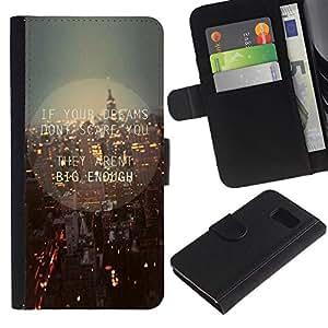 Samsung Galaxy S6 / SM-G920 , la tarjeta de Crédito Slots PU Funda de cuero Monedero caso cubierta de piel ( New York City Streets Skyline Night Lights)