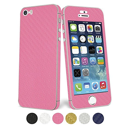 UTLK iPhone 4 /4S Full Body Carbon Fibre Wrap Decal Skin Sticker Protector (for Iphone 4/4S Pink)