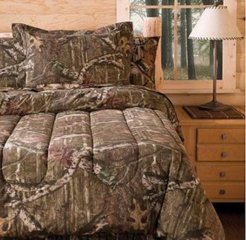 Mossy Oak Infinity Bedding Comforter Set, QUEEN - Oak Queen Bed Set