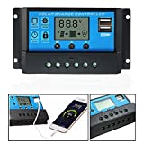 30A 12V/24V Solar Panel Charger Controller Battery Regulator LCD with USB Port