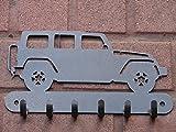 Jeep Wrangler Rubicon 4 Metal Leash, Key, Jacket Hook Heavy 12 Gauge Steel