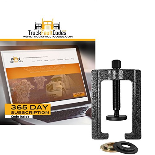Tiger Tool SPL Bearing Cup Installer with 12 month subscription to TruckFaulCodes (Universal Bearing Installer Cup)