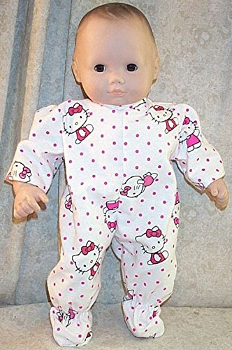 Doll Clothes Baby Made 2 Fit American fit 15' in Bitty Hello Kitty Pink Pajamas