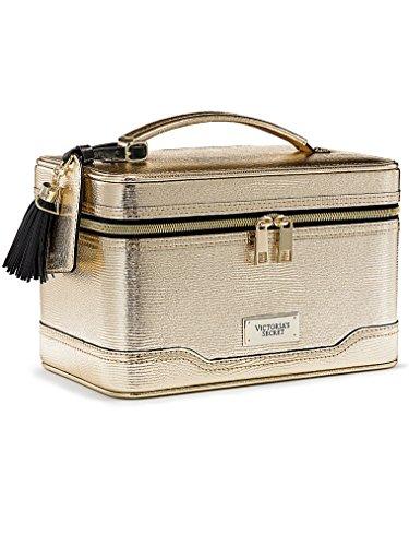 Victoria's Secret Hard Train Case Bag Gold Metallic - Victoria Secret Jewelry