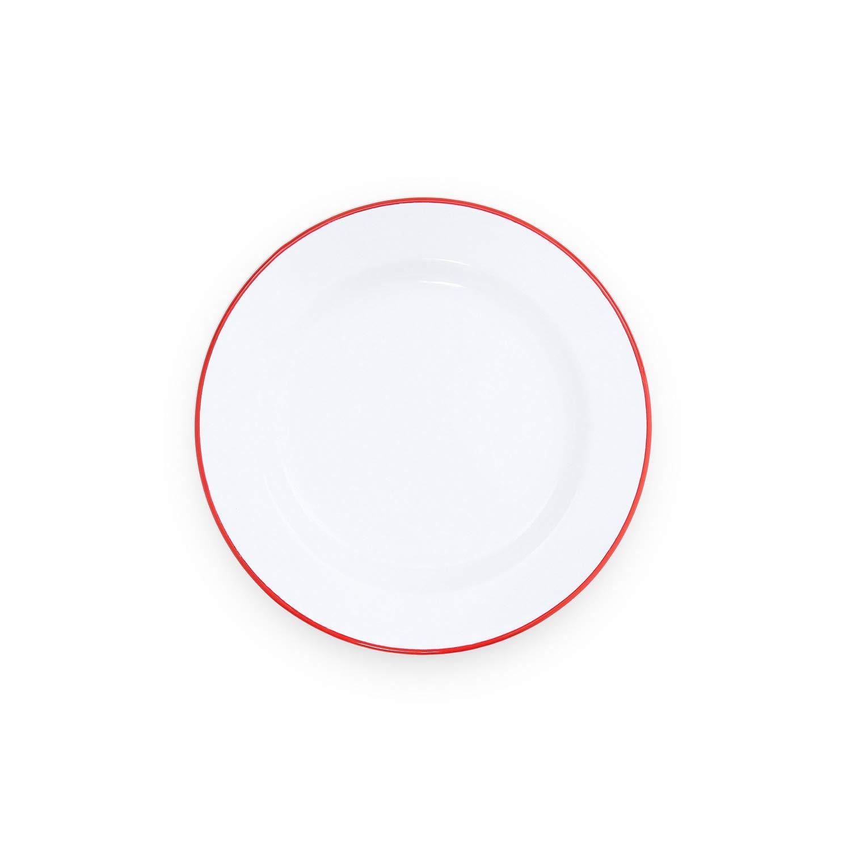 Enamelware Dinner Plate 10.25 inch Red/White Splatter Dining ...
