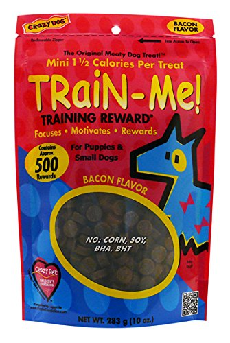 Crazy Dog Train-Me! Bacon Mini Training Reward Treats (1 Pouch), 10 oz (Crazy Train Dog Me)