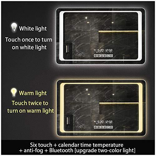 FYYSL 90150cm Illuminated LED Backlit Bathroom Mirror Light Sensor Touch Control with - With Socket Mirrors Backlit Bathroom Shaver