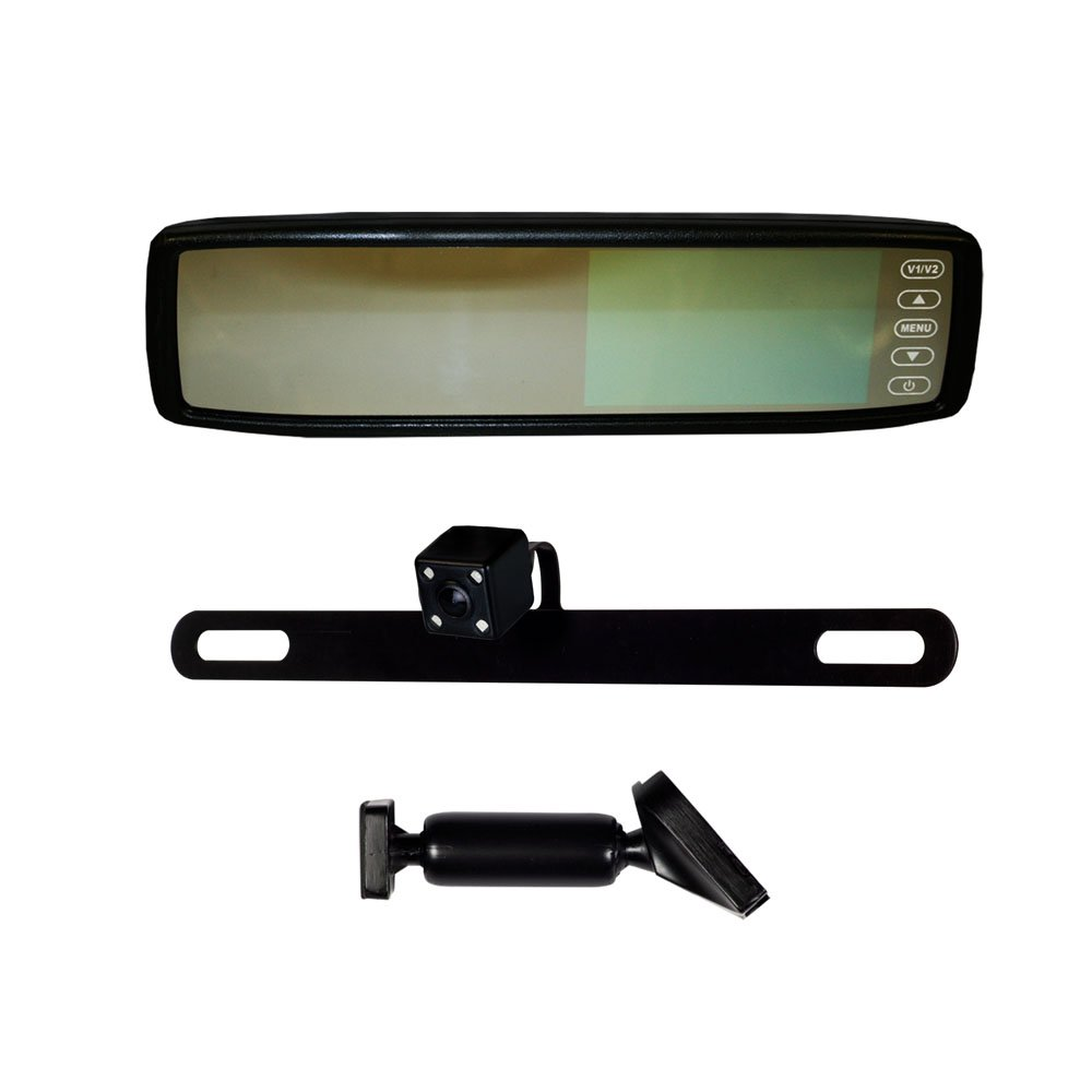 iBeam USA TE-RVMCIR Replacement Rear View Mirror with IR LED Camera