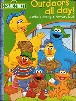 Sesame Street Outdoors All Day Jumbo Coloring Activity
