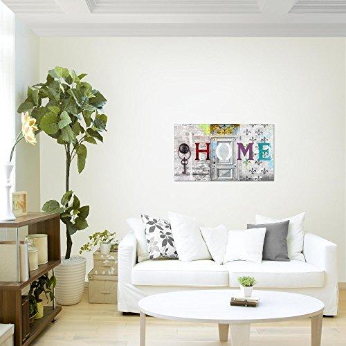 Bilder-Home-Haus-Wandbild-Vlies-Leinwand-Bild-XXL-Format-Wandbilder-Wohnzimmer-Wohnung-Deko-Kunstdrucke-70-x-40-cm-Wei-1-Teilig-100-MADE-IN-GERMANY-Fertig-zum-Aufhngen-503014a
