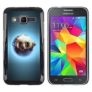 Be Good Phone Accessory // Dura Cáscara cubierta Protectora Caso Carcasa Funda de Protección para Samsung Galaxy Core Prime SM-G360 // Skull Glow