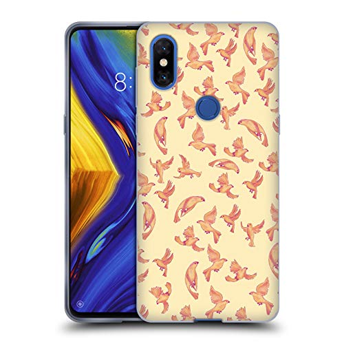 (Official Amanda Laurel Atkins Canaries Peach Patterns Soft Gel Case for Xiaomi Mi Mix 3)