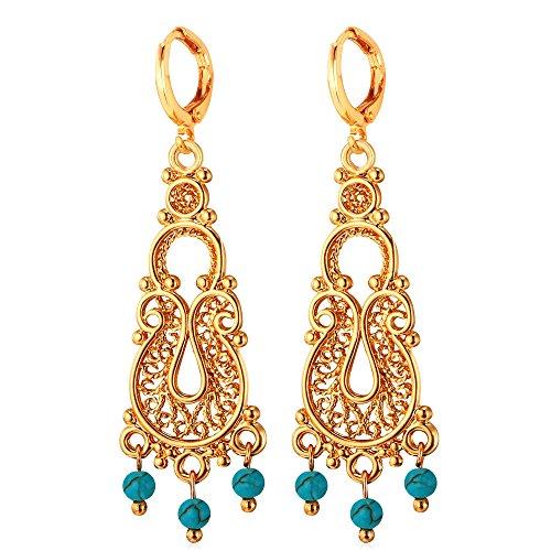 U7 Vintage 18K Gold Plated Earrings (Gold) - 8