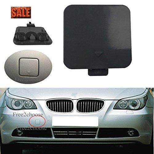 Free2choose Front Bumper Tow Hook Cover Cap for E60 E61 525i 528i 530i 530xi 540i 2004-2007 ()