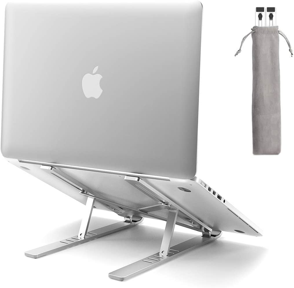 Laptop Stand, Licheers Adjustable Aluminum Laptop Stand with Magnet, Portable Foldable Cooling Laptop Holder for Desk, Compatible with MacBook Air Pro, Dell XPS, HP, Lenovo or More 10-15.6in Laptops