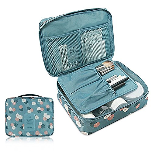 Polyester Large Roll Bag (Cherry Roll Clear Cosmetic Makeup Bag Toiletry Travel Kit Organizer (flower printing sky)