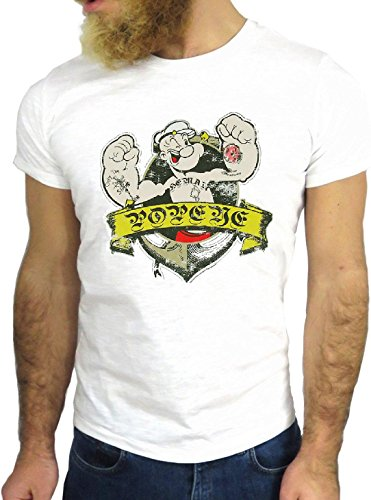 T-SHIRT JODE GGG24 Z0813 POP COOL VINTAGE ROCK FUNNY FASHION CARTOON NICE AMERICA BIANCA - WHITE XL