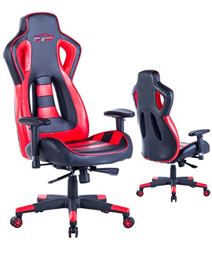 Top Gamer Gaming Chair PC Racing Computer Chairs(Red/Black) Top Gamer