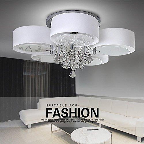 LED Deckenleuchte Modern Deckenlampe 5 Flammig Kristall Designer Wohnzimmer Lampe E27 75cm Energieklasse A Amazonde Beleuchtung