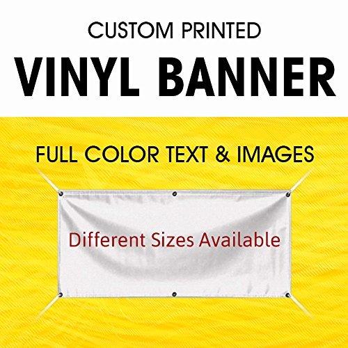 BannerBuzz - Pancarta de vinilo para interiores y exteriores, diseño de bandera de negocios a todo color, con carteles de...