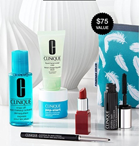 the Best of Clinique 2017 7-pc $75 Value Skincare Makeup Gift Set including Pep-Start Moisturizer