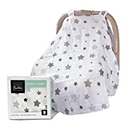 Barnaby Belle 'Night' Baby Carseat Canopy Covers, Girls or Boys Infant Car Seat Cover
