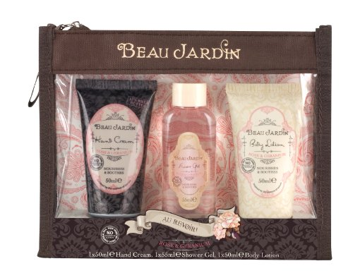 Beau jardin rose and geranium au revoir food beverages for Beau jardin hand cream collection
