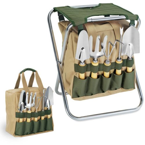 Merveilleux Amazon.com : ONIVA   A Picnic Time Brand Gardener 5 Piece Garden Tool Set  With Tote And Folding Seat : Garden U0026 Outdoor