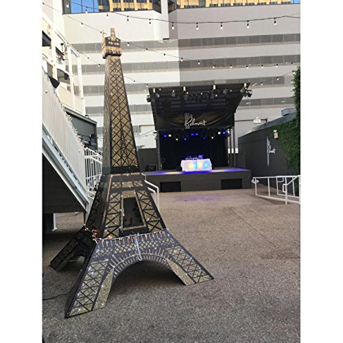 11 ft. 7 in. Tres Chic 3D Paris France Eiffel Tower Prop Standup Photo Booth Prop Background Backdrop Party Decoration Decor Scene Setter Cardboard Cutout