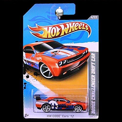 2012 Hot Wheels Dodge Challenger Drift Car Orange/Blue #229/247
