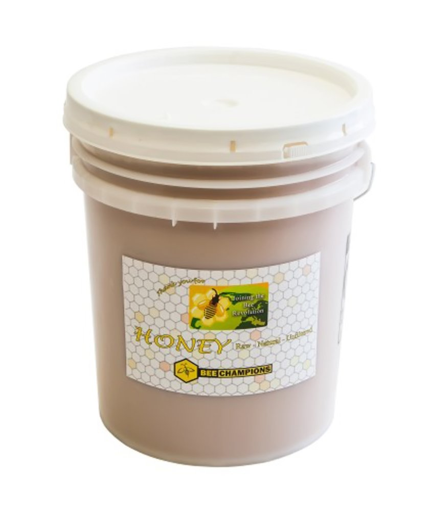 Bee Champion 5 Gallon Bucket of Natural Raw Honey by Bee Champion